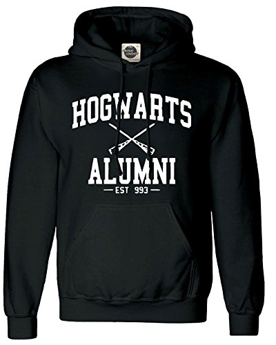 TheProudLondon Hogwarts Alumni || Unisex Hoodie (Kid's 7-8, Black)