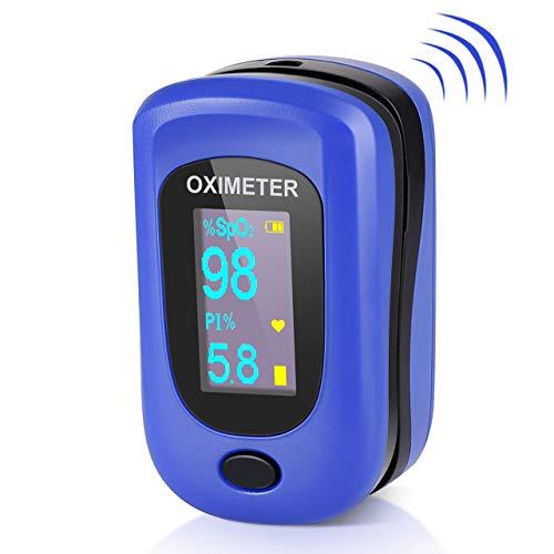 Pulsoximeter, Pulsoxymeter Profi Oxymeter Fingerpulsoxymeter Pulse Oximeter Finger für Erwachsene und Kinder mit Omnidirektional OLED-Display