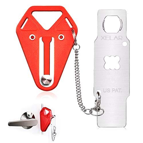 Portable Door Lock Hotel Travel Door Lock AirBnB, College Dorm Lock, Motel, School Lockdown -...