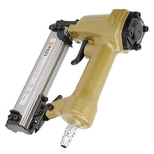 RRunzfon Aire Pin Clavadora Grapadora neumática P625 10-25mm Clavo de la Herramienta...