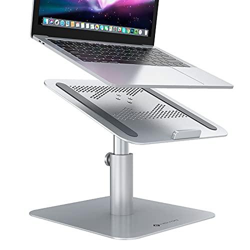 Novoo Support pour ordinateur portable rotatif à 360 °, inclinable et réglable en hauteur en aluminium ergonomique pour MacBook Air/Pro, Dell, HP, Lenovo, etc.