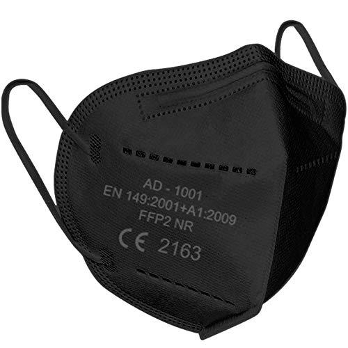 Lexuslance-20 Mascarilla FFP2 color negro,Probado y certificado CE por el organismo notificado número 2163 de acuerdo con el estándar de la UE FFP2 EN149:2001+A1:2009.