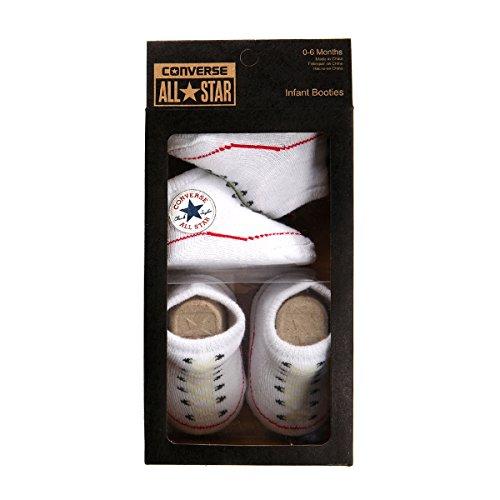 Converse Converse Unisex Baby Socken 2 Pack Booties, Gr. 0-6 Monate , Weiß (White)