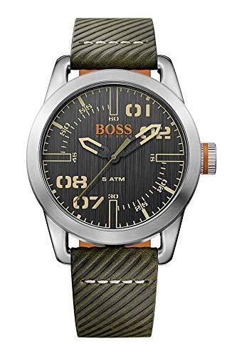 Hugo Boss Orange Oslo Herren-Armbanduhr Quartz mit Leder Armband 1513415