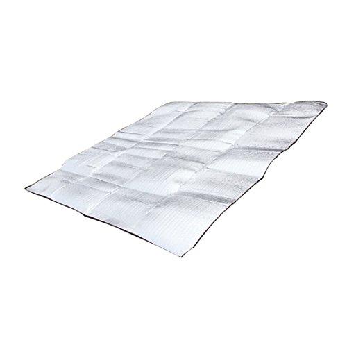 Tampon de couchage en aluminium pliable imperméable à l'eau portatif d'Eva pour le camping Tapis de pelouse de yoga Yoga coussin résistant à l'humidité double couverture de pique-nique mat 1.5 * 2M