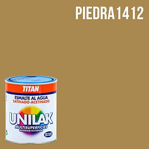 Esmalte al agua Unilak satinado - 750 mL, 1412 Piedra