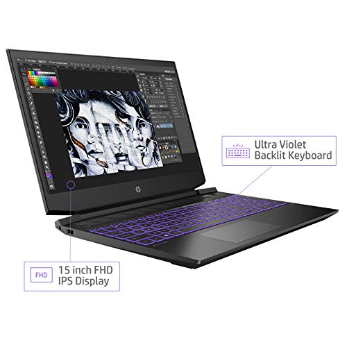 HP Pavilion Gaming 15-ec0044AX 15.6-inch Laptop (Ryzen 7 3750H/8GB/1TB HDD + 256GB SSD/Windows 10, Home/4 GB Graphics), Shadow Black