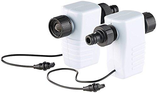 Royal Gardineer Zubehör zu Garten-Wassercomputer: Bewässerungs-Adapter mit Magnet-Ventil für Station BWC-400, 2er-Set (Bewässerungscomputer mit Verteiler)