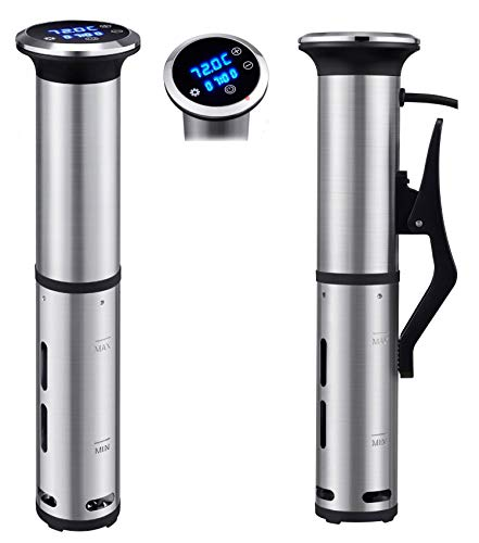 Sous Vide Cooker 1000W, IPX7 Waterproof Immersion Circulator with Accurate Temperature Control, Stainless Steel Kitchen Cooking Machine for Steak/Poultry/Seafood/Vegetables