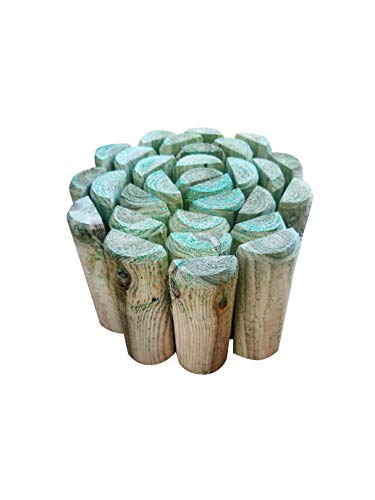 Log roll 120 x 15cm approx - Lawn edging - Flower Bed Edging - Log rolls Garden Edging Garden borders