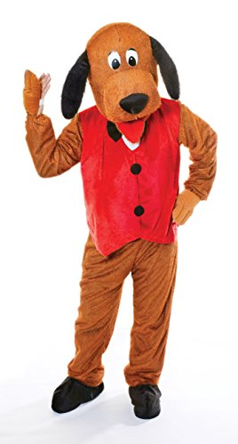 Bristol Novelty AC269 hond met vest kostuum met groot hoofd, rood, 44-inch chestmaat