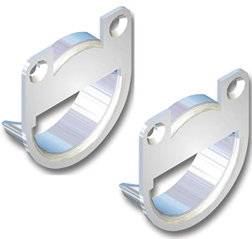 SECOTEC Schrankaufhänger zum Einbohren | 35mm | verzinkt | 2 Stück