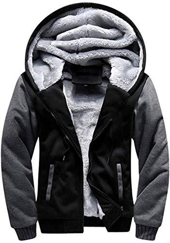 SwissWell Men's Fleece Jacket Windproof Thick Warm Active Coat Full Zip Fleece Outdoors Countrywear Pullover for Man Sweatshirt Top Hoodie with Pockets in Premium Quality