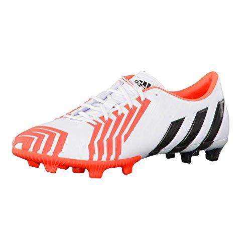 Adidas Predator Instinct Firm Ground, Herren Fussballschuhe, - Ftwr White/Core Black/Solar Red - Größe: 41 1/3 EU