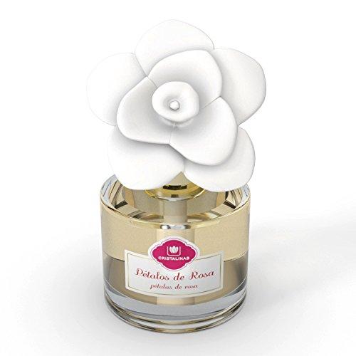 CRISTALINAS Ambientador de Flor de CERÁMICA. Mas de 2 Meses de duracion. 90ml Aroma: (Pétalos de Rosa): Amazon.es: Hogar