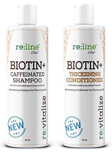 shampoos for fines Biotin Shampoo and Conditioner for Hair growth Men Women Hair loss treatment - Caffeine Shampoo with Biotin for hair growth - Volume Shampoo Conditioner for Fine hair Thickening shampoo DHT blocker