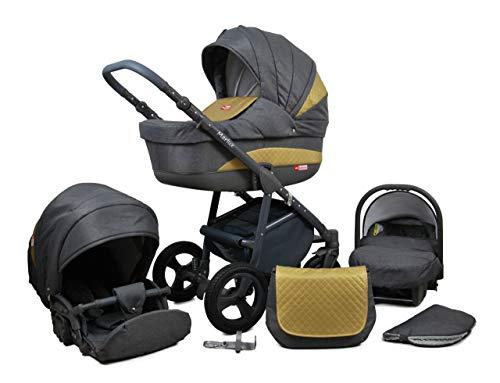 Poussette Combinée Trio landau 2en1 3en1 Isofix siège Auto Marley by SaintBaby Gold 3en1 avec siège bébé