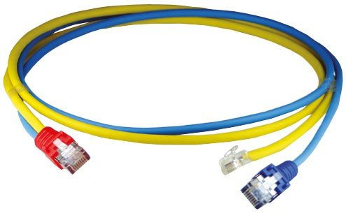 Homeway HW-Y-Kabel11 LAN/RJ11 HCAHNG-B3106-A005 0,5m bl/ge Patchkabel Kupfer 4250679710717