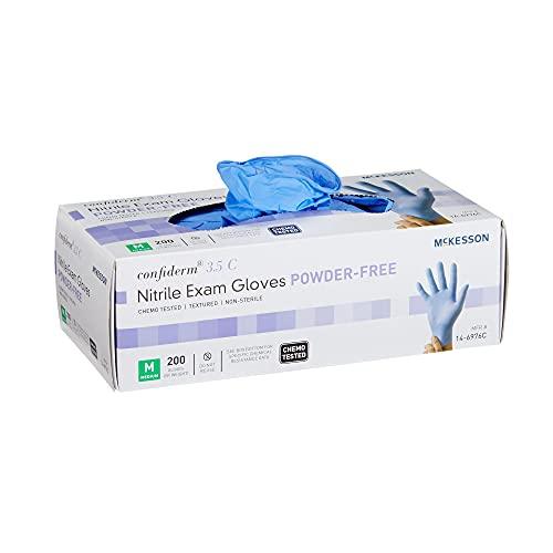 McKesson Confiderm 3.5C Exam Glove Powder Free MEDIUM 14-6976C 200 per Box
