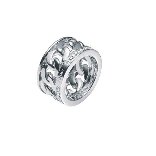 Joop Damen-Ring 925 Sterling Silber rhodiniert Kristall Zirkonia Ring weiß Gr.55 (17.5) JPRG90331A550