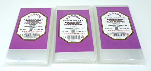 docsmagic.de 3 x 50 Premium Custom Size Board Game Sleeves - 59 x 110 - for Betrayal at House on The Hill & Baldur's Gate