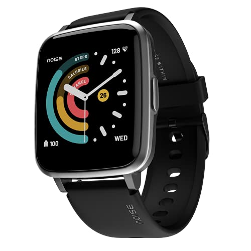 Noise ColorFit Pulse Spo2 Smart Watch 1.4' Full Touch HD Display, 10 Days Battery Life with Heart Rate, Sleep Monitoring & IP68 Waterproof (Jet Black)