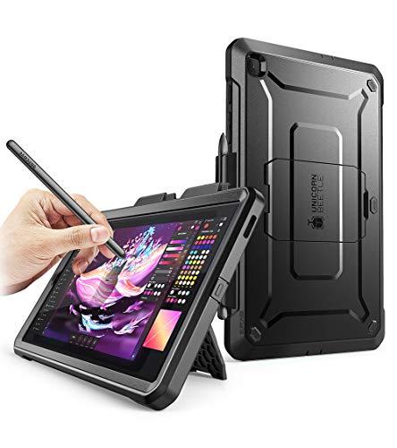 SUPCASE Custodia Samsung Tab S6 Lite 2020 Cover con Protezione per Display [Serie Unicorn Beetle PRO] Rugged Case per Samsung Galaxy Tab S6 Lite, Nero