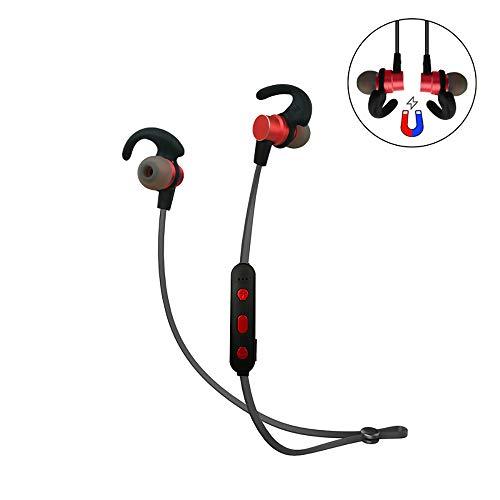 CYRDJ Bluetooth Kopfhörer, in Ear Magnetisches Headset, mit Wasserschutzklasse IPX5 6 Stunden-Spielzeit/Mikrofon, federleicht für iPhone, iPad, Samsung, Huawei, HTC und mehr RD38,Red