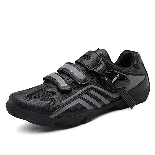 QWERTY Zapatillas De Ciclismoprofesionales De Ciclismo Shoessneakers Zapatos De Bicicleta De Carretera Ligeros Y Transpirables para Exteriores,Black-39