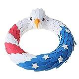 TSBB Corona de águila Americana Corona patriótica para Puerta de Entrada 4 de Julio Corona Decorativa