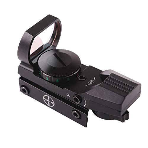 YUZHE Red Green Dot Sight Reflex Sight Rifle Scope 4 Point Mode with 20 mm Free Mount Rails Hunting Sight