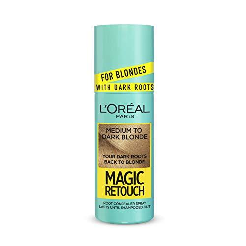 Spray de retoque mágico para el cabello, color rubio, para raíces oscuras, de L