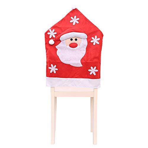 JGFDVBBNM Christbaumschmuck Neue Weihnachtsmütze Stuhl Set Weihnachtstisch Bankett Party Stuhl Back Cover Weihnachten Weihnachtsdekoration, Weihnachtsmann