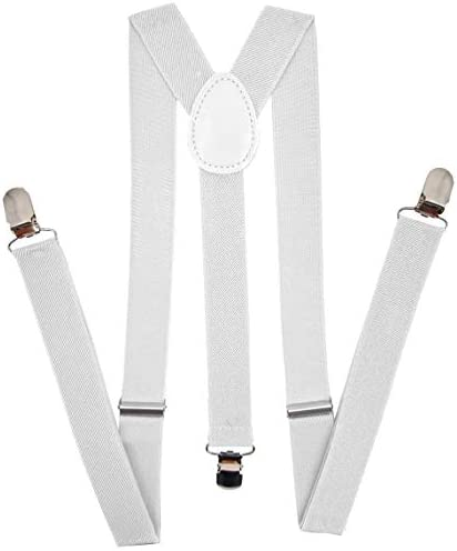 Navisima Women Adjustable Elastic Y Back Style Suspenders With Strong Metal Clips White product image