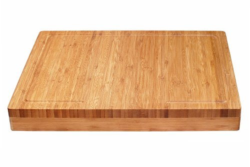 """Lipper International Bamboo Wood Over-the-Counter-Edge Kitchen Cutting and Serving Board, 17-5/8"""" x 13-7/8"""" x 2"""""""