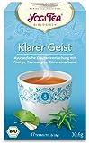 Yogi Tee Klarer Geist 30,6 Gramm - Bio Yogi Tea im Teebeutel 17 Stück - Ayurvedische...
