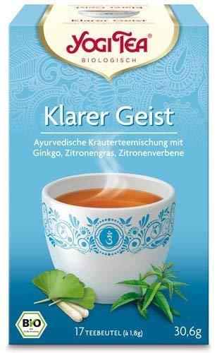 Yogi Tee Klarer Geist 30,6 Gramm - Bio Yogi Tea im Teebeutel 17 Stück - Ayurvedische Kräuterkomposition - Bremer Gewürzhandel