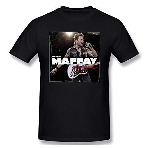 Liteschi Herrens Peter Maffay 1 Casual Style T-Shirts Black XXL Mit Herren-Kurzarm