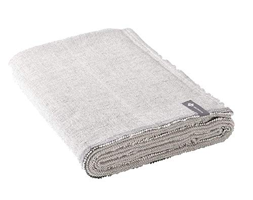 """Halfmoon Yoga Blanket, 100% Cotton, 60"""" x 80"""" - Large Handwoven Blankets & Throws for Home, Yoga Practice, Camping, Outdoors, Travel, Premium Meditation Room Décor (Carbon)"""