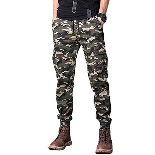 Pantalones de Jogging de Camuflaje para Hombre, Cintura elstica con cordn, Ajustados, cmodos, Transpirables, cnicos, Casuales, Pantalones Harem 36
