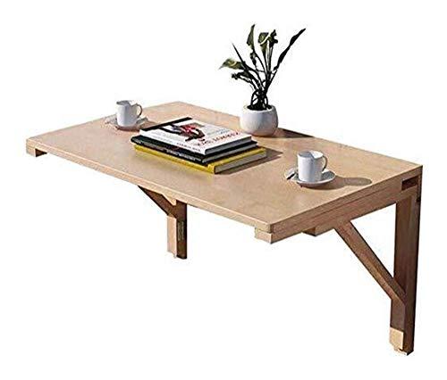 Mesa de centro Mesas laterales de madera maciza Mesa de comedor for habitaciones pequeñas, Mesa plegable del ordenador pared aprendizaje rotafolio tabla del escritorio de la cena Temporal Tablas de ca