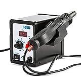 LETRA 858D Rework Station, 110V Digital SMD Hot Air Gun Soldering Rework Station, LED Temperature Display Screen Solder Iron Kit Heat Gun