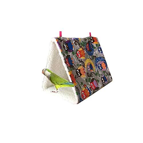 Bello Luna Parrot Hangmat Hangbed voor Kooi Pluche Vogelhut-Wit