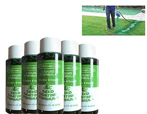 FONGDY Hydro Mousse SprüHrasen FüR Garten,Rasenfarbe GrüN Spray,Liquid Lawn-FlüSsig RasendüNger (5 Flaschen Wachstumslösung)