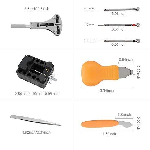 M MOKENEYE Watch Repair Kit Watch Battery Replacement Tool Kit Watch Case Opener Professional Watch Battery Replacement Tool Kit, Spring Bar Tool Set