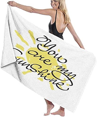 LUYIQ Toalla de Playa Grandes de Antiarena de Microfibra para Hombre Mujer, Eres mi Sol -150x70cm, Toallas Baño Secado Rapido para Piscina, Manta Playa, Toalla Yoga Deporte Gimnasio