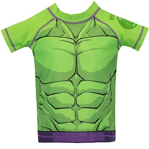 Marvel Costume da Bagno per Ragazzi a Due Pezzi L'incredibile Hulk Verde 7-8 Anni