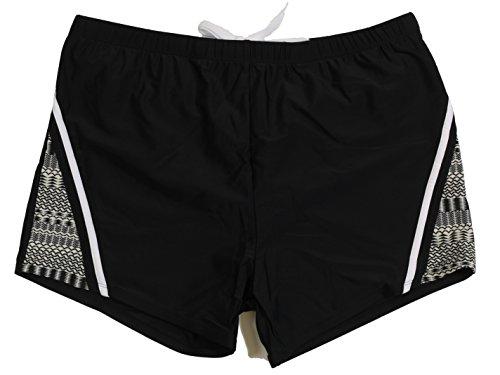 Abraxas Boxer- Zwemshorts grote maten tot 8XL, zwart/print
