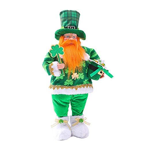 Lucky Leprechaun Plush Figures, Leprechaun Figurine, Decorative Stuffed Figure for St. Patrick's Day or Everyday