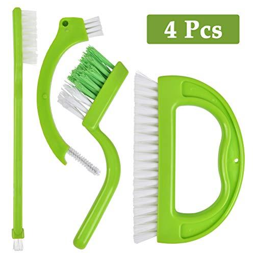 POKIENE 4er-Set Fugenbürste & Fliesenbürste - Effektiv Reinigungsbürste Nylonbürste für Haushalt, Bad, Küche